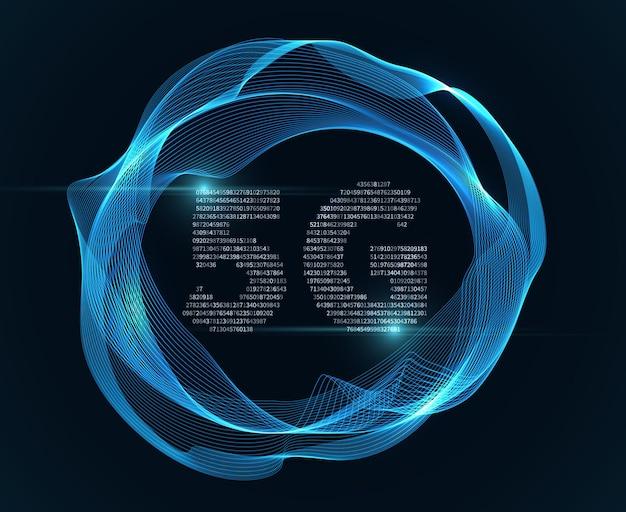 Modem internetowy i bezprzewodowy z symbolem abstrakcyjnego sygnału w kształcie koła