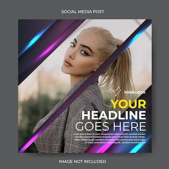 Moden glow instagram social media template
