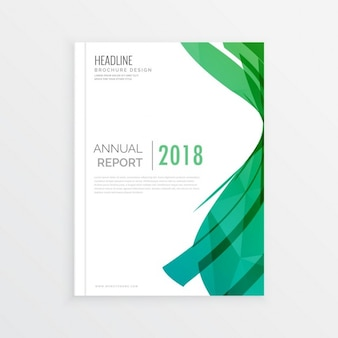 Moden streszczenie zielone okładki magazynu tematem projekt strony annial sprawozdanie obejmuje minimalne broszura