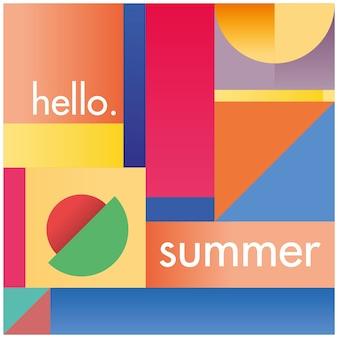 Modern geometirc hello summer