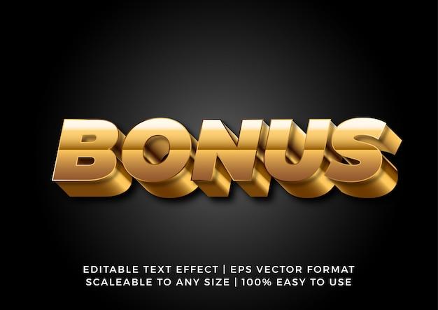 Modern gold bold text effect