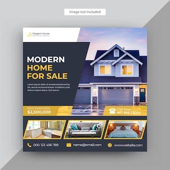 Modern real estate instagram post, szablon postu w mediach społecznościowych