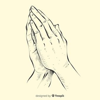 Modląc się ręce tle