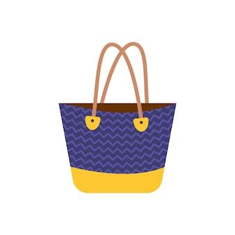 Modna damska torba plażowa ikona letni dodatek dla pań na zakupy i wakacje