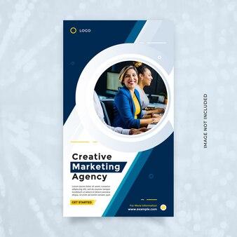 Modna i czysta promocja szablonu projektu agencji marketingu cyfrowego dla biznesu korporacyjnego