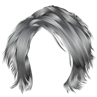 Modna kobieta rozczochrane włosy na białym tle