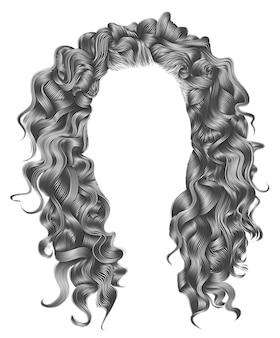 Modna kobieta włosy na białym tle