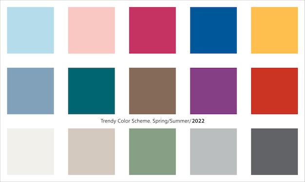 Modna kolorystyka na sezon wiosenno-letni 2022