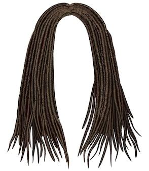 Modna peruka z dredami z długimi włosami