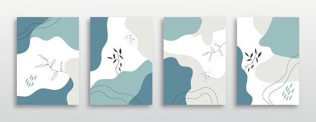 Modne abstrakcyjne rośliny obejmują kolekcję tła