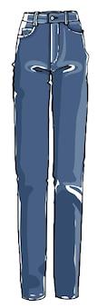 Modne dżinsy dla dziewczynek, prosty model uliczny