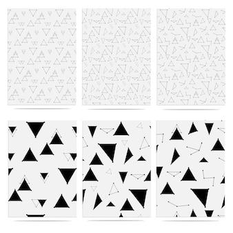 Modne elementy geometryczne trójkąta wzór memphis