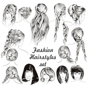 Modne fryzury kolekcji