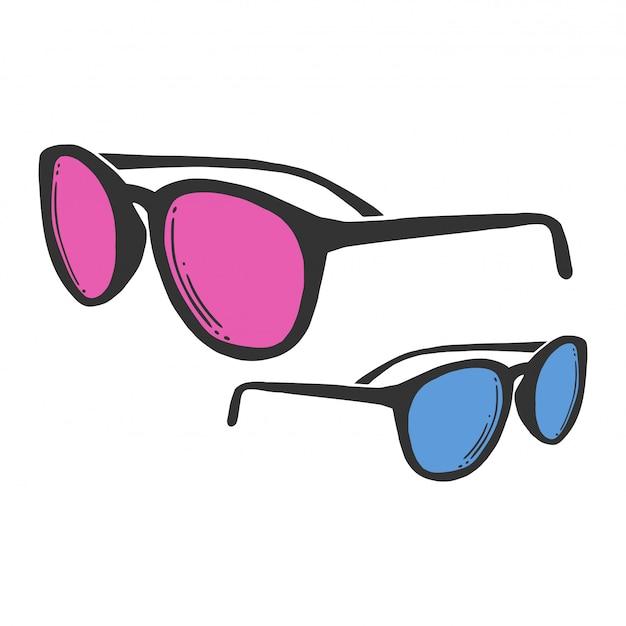 Modne okulary przeciwsłoneczne.