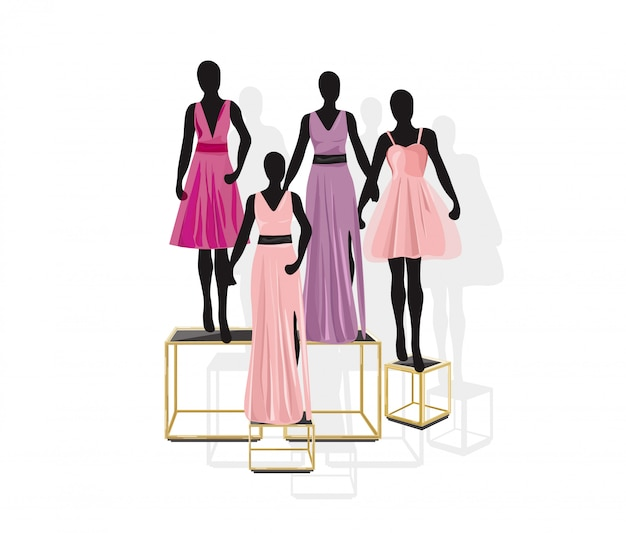 Modne sukienki manekinowe