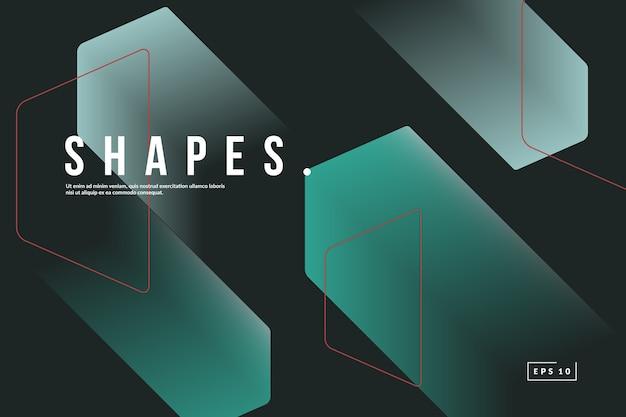 Modne tło geometryczne. kompozycja kształtów gradientu.