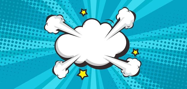 Modne tło komiksowe z pustą chmurą dymek