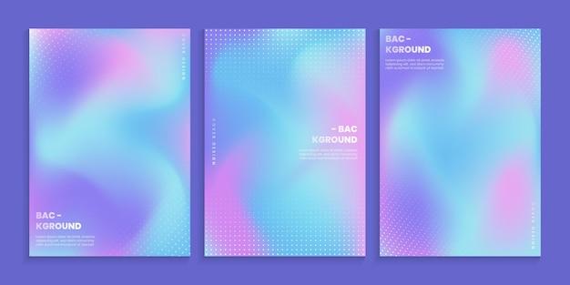 Modne, żywe kolory gradientu z abstrakcyjnymi kropkami
