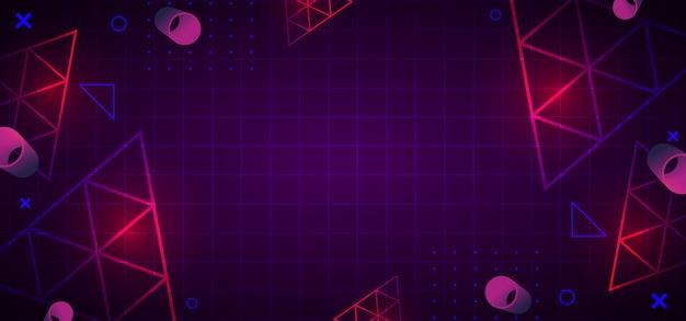 Modny 80s streszczenie tło geometryczne