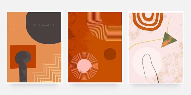 Modny abstrakcyjny kształt organicznej okładki. zastosowanie odcienia terakoty do banera, broszury, karty, zaproszenia, druku, ulotki lub prezentacji