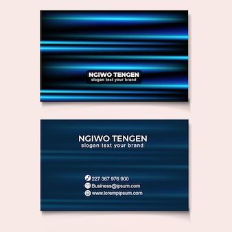Modny abstrakcyjny szablon karty biznesowej nowoczesny
