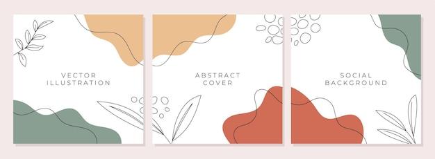 Modny abstrakcyjny szablon kwadratowy z kolorową koncepcją dla kanału na instagramie lub dowolnego postu w mediach społecznościowych
