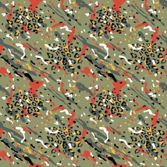 Modny abstrakcyjny wzór bez szwu. stylizowane tło skóry lamparta dla mody, druku, tapety, tkaniny. ilustracja wektorowa