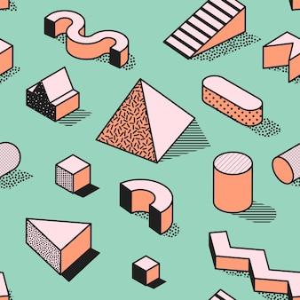 Modny abstrakcyjny wzór memphis