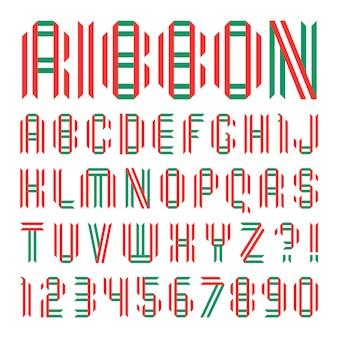 Modny alfabet. duże litery