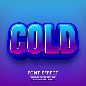 Modny efekt zimnego tekstu 3d