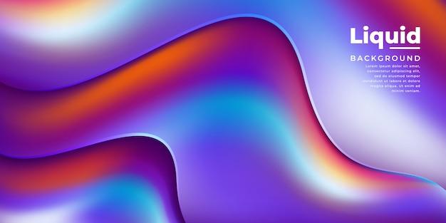 Modny kolorowy falisty płyn tło.