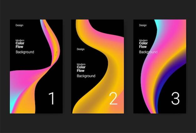 Modny kolorowy gradient dla szablonu opowieści w mediach społecznościowych