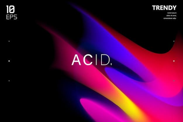 Modny kolorowy płynny gradient na czarnym tle