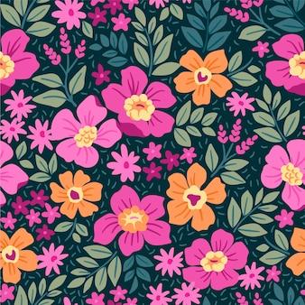 Modny kwiatowy wzór. bezproblemowy nadruk. motywy letnie i wiosenne. jasne tło.