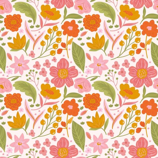 Modny kwiatowy wzór ditsy