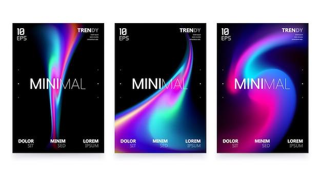 Modny minimalistyczny płynny rozmazany gradientowy czarny plakat a4