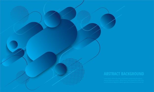 Modny niebieski nowoczesny gradient tło