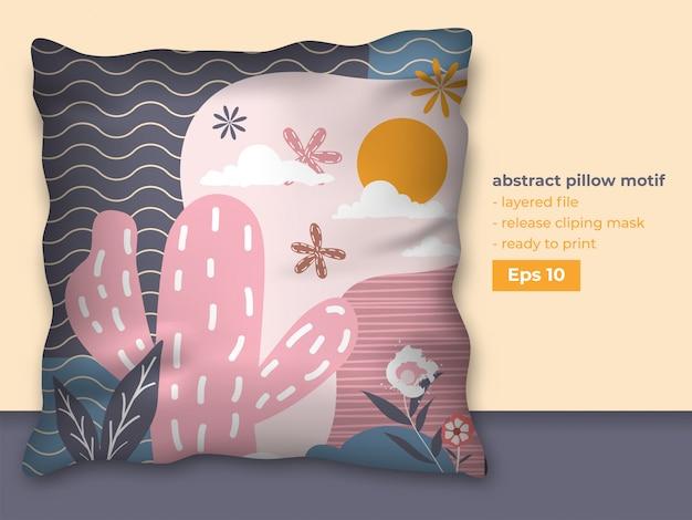Modny projekt abstrakcyjny do druku na poduszkach