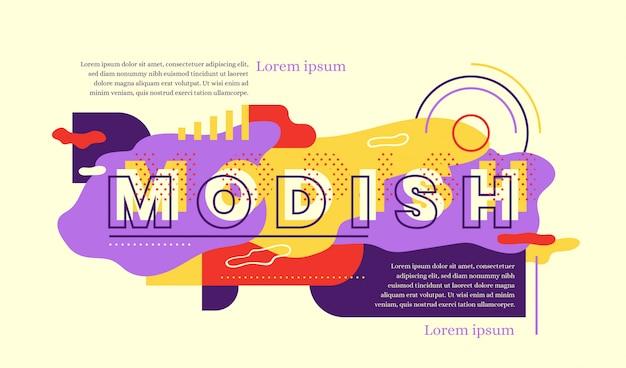 Modny projekt baneru internetowego w stylu abstrakcyjnym.