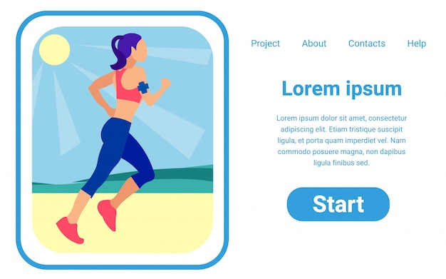 Modny projekt online wektor szablon projektu strony