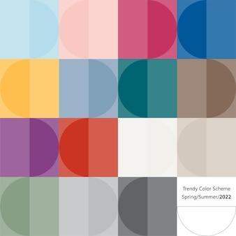 Modny schemat kolorów według wzoru. wiosna i lato 2022