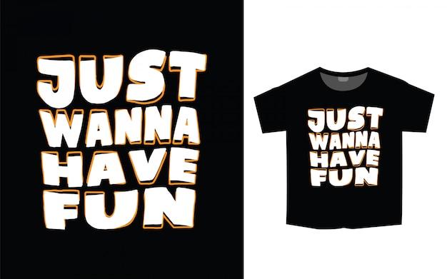 Modny slogan typografii projekt koszulki