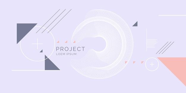 Modny streszczenie tło geometryczne z płaskim, minimalistycznym stylu. plakat wektor z elementami do projektowania