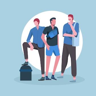 Modny strój millennials man