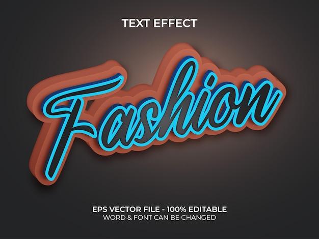 Modny styl efektu tekstowego edytowalny efekt tekstowy