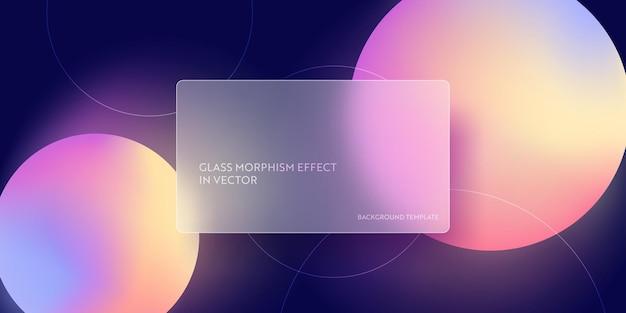 Modny szklany morfizm płynny gradientowy tło. wektor szablon futurystyczny modny projekt transparent, plakat 3d, minimalizm neon okładka, ulotka rozmycie szkła, prezentacja. geometryczna strona internetowa, tło interfejsu użytkownika