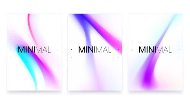 Modny wektor płynny gradientowy zestaw plakatów a4
