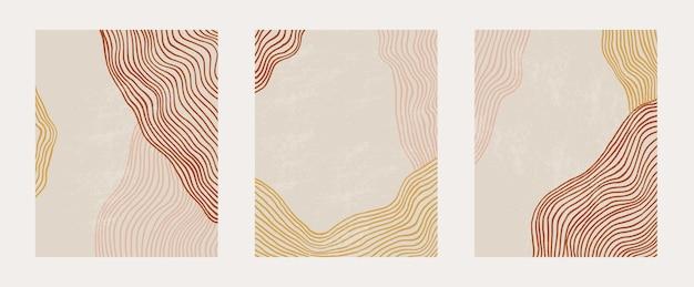 Modny współczesny zestaw z szablonem sztuki abstrakcyjnej