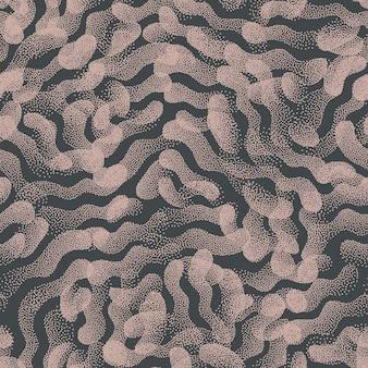 Modny wzór nakrapiany abstrakcyjne kształty tekstury vintage kolory tła