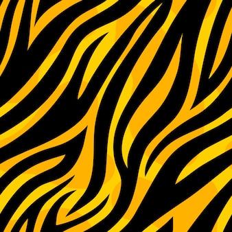 Modny wzór żółtego tygrysa dzikie zwierzęce powtórzenie tekstury skóry